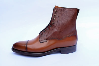 Carlos Santos 9156 Field Boot in Grain/Calf Left View