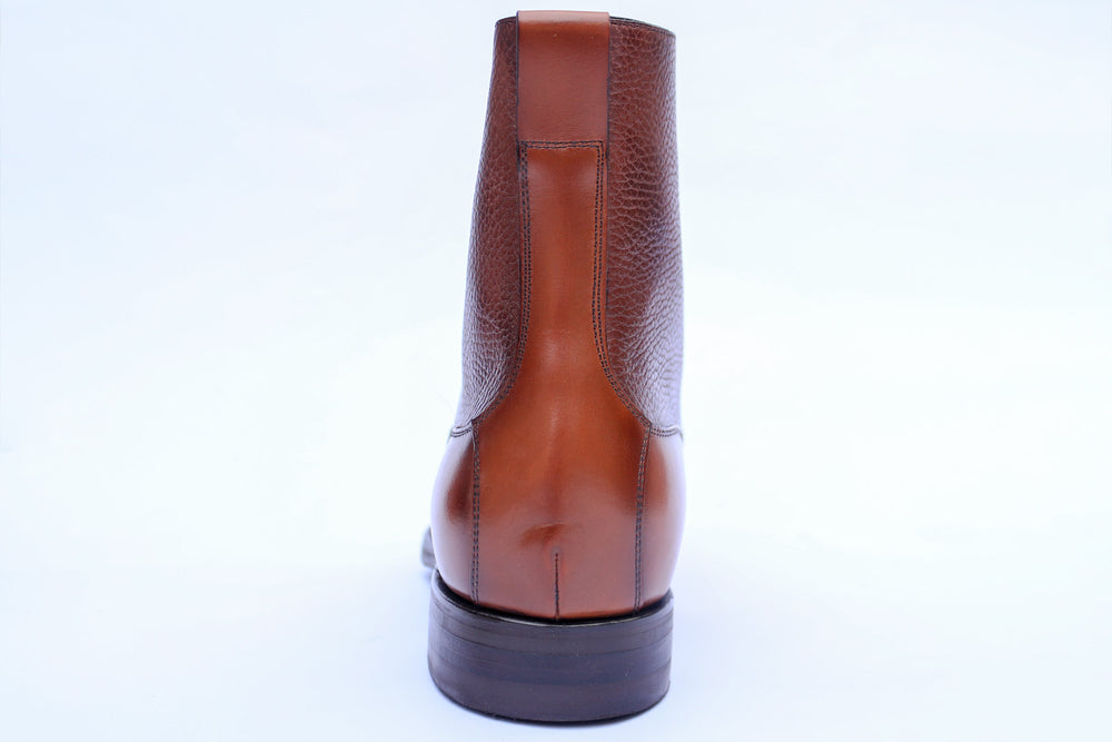 Carlos Santos 9156 Field Boot in Grain/Calf Back View