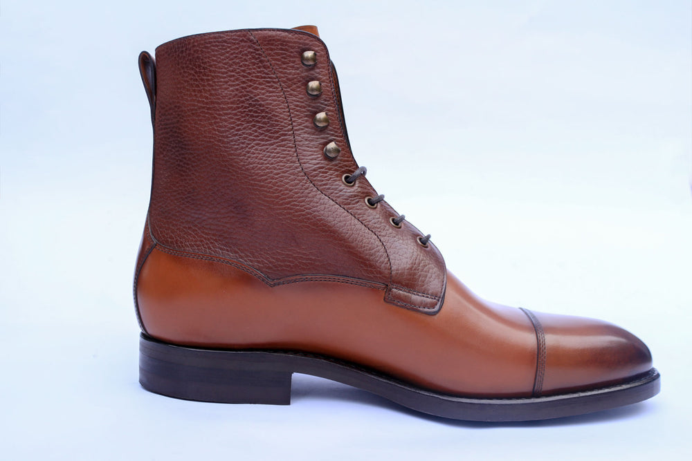 Carlos Santos 9156 Field Boot in Grain/Calf Right View