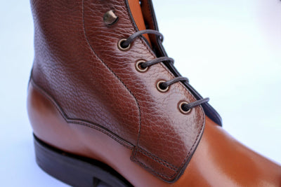 Carlos Santos 9156 Field Boot in Grain/Calf Facing Side View