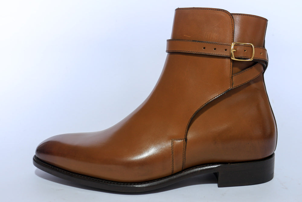 Carlos Santos 4125 Jodhpur Boots in Cognac Calf Left Side View
