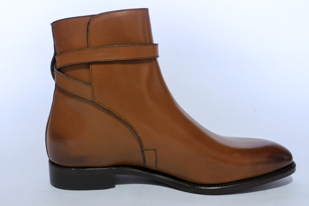 Carlos Santos 4125 Jodhpur Boots in Cognac Calf Right Side View