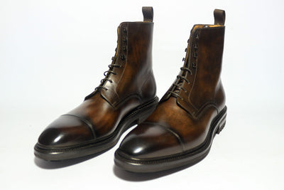 Carlos Santos 8866 Jumper Boot in Coimbra Patina Diagonal View