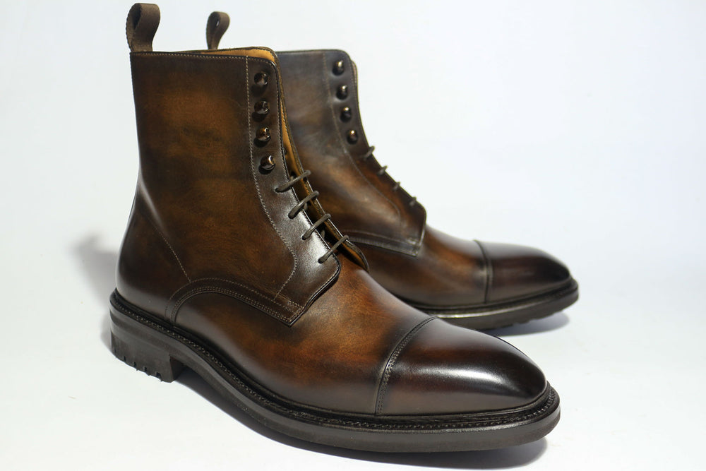 Carlos Santos 8866 Jumper Boot in Coimbra Patina Right View Both Shoes