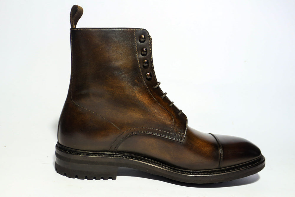 Carlos Santos 8866 Jumper Boot in Coimbra Patina Right Side View