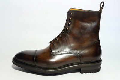 Carlos Santos 8866 Jumper Boot in Coimbra Patina Left Side View