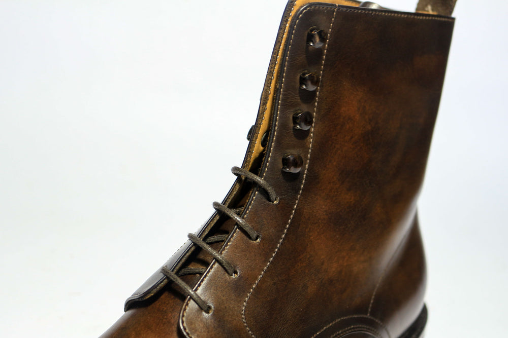 Carlos Santos 8866 Jumper Boot in Coimbra Patina Lacing