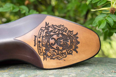 Paolo Scafora 583 Split Toe Derby in Positano Calf for The Noble Shoe Emblem