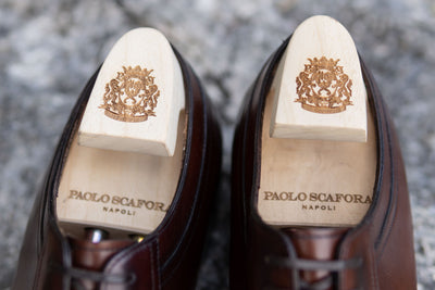 Paolo Scafora 583 Split Toe Derby in Positano Calf for The Noble Shoe Shoe Trees