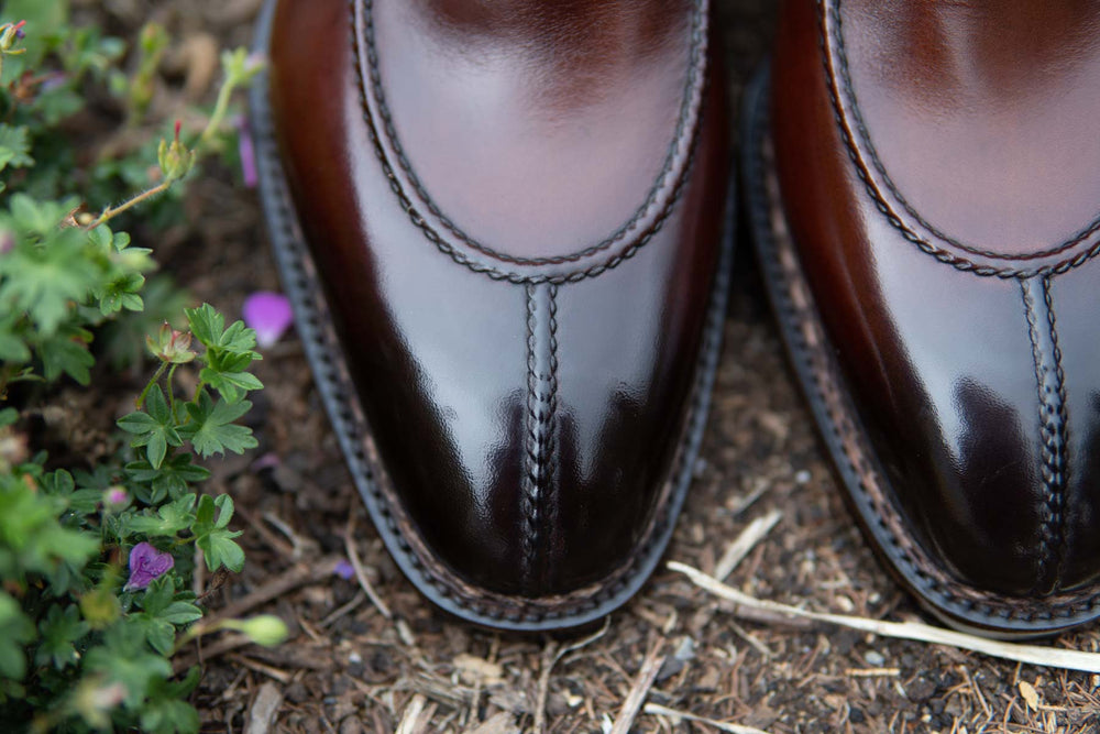 Paolo Scafora 583 Split Toe Derby in Positano Calf for The Noble Shoe Stitching