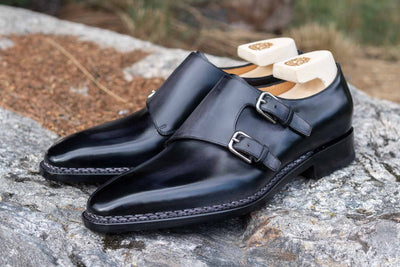 Paolo Scafora 650 Double Monk Strap in Furore for The Noble Shoe 9
