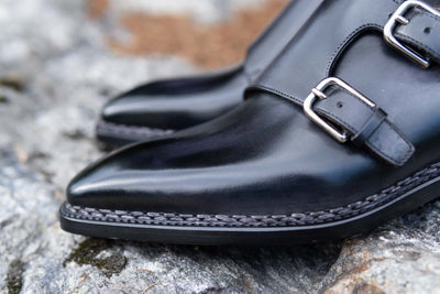 Paolo Scafora 650 Double Monk Strap in Furore for The Noble Shoe 6