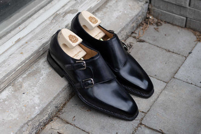 Paolo Scafora 650 Double Monk Strap in Furore for The Noble Shoe 15