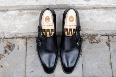 Paolo Scafora 650 Double Monk Strap in Furore for The Noble Shoe 16