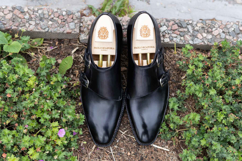 Paolo Scafora 650 Double Monk Strap in Furore for The Noble Shoe 10