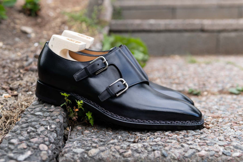 Paolo Scafora 650 Double Monk Strap in Furore for The Noble Shoe 3