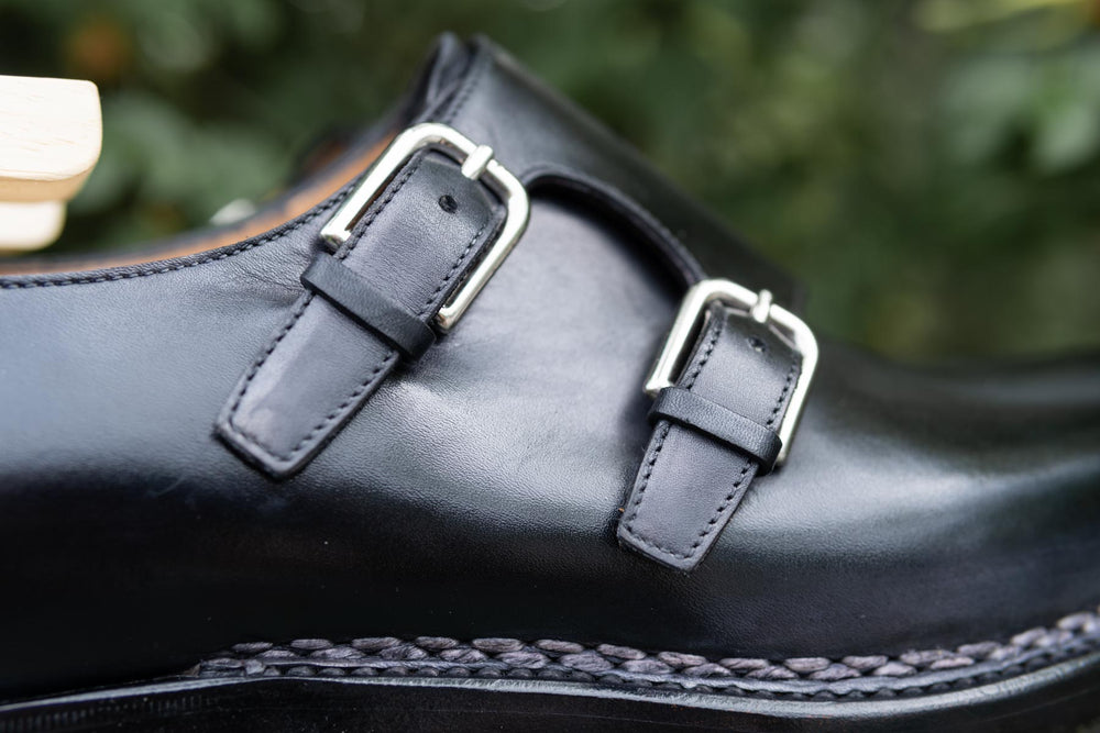 Paolo Scafora 650 Double Monk Strap in Furore for The Noble Shoe 7