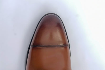 Carlos Santos 9156 Field Boot in Grain/Calf Toe Close Up