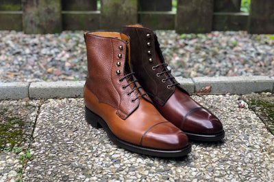 Carlos Santos 9156 Field Boot in Grain/Calf