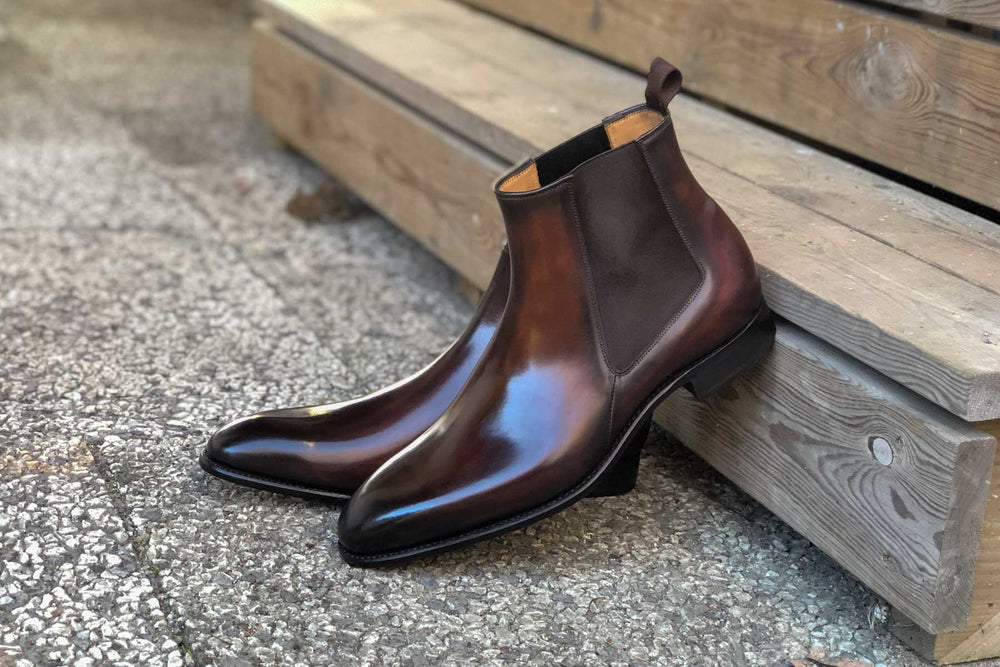 Carlos Santos 7902 Chelsea Boots in Guimaraes Patina for The Noble Shoe 4