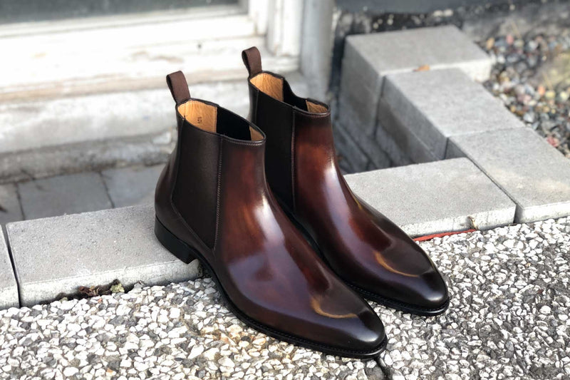 Carlos Santos 7902 Chelsea Boots in Guimaraes Patina for The Noble Shoe 1