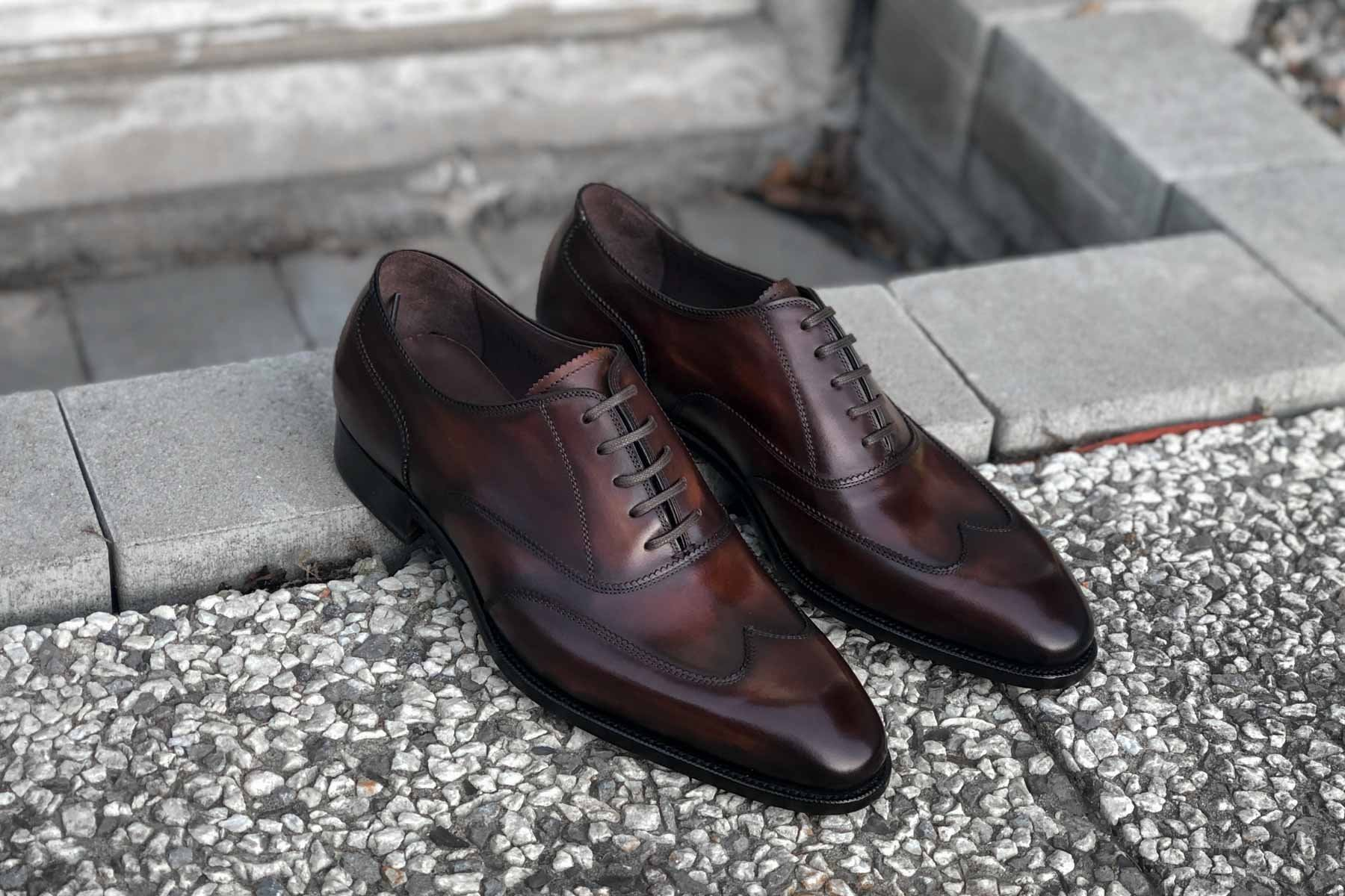 Carlos Santos Handgrade 9393 Austerity Brogue in Guimaraes Patina