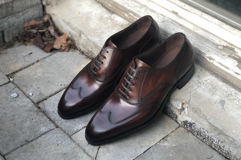 Carlos Santos 9393 Austerity Brogue in Guimaraes Patina For The Noble Shoe 2
