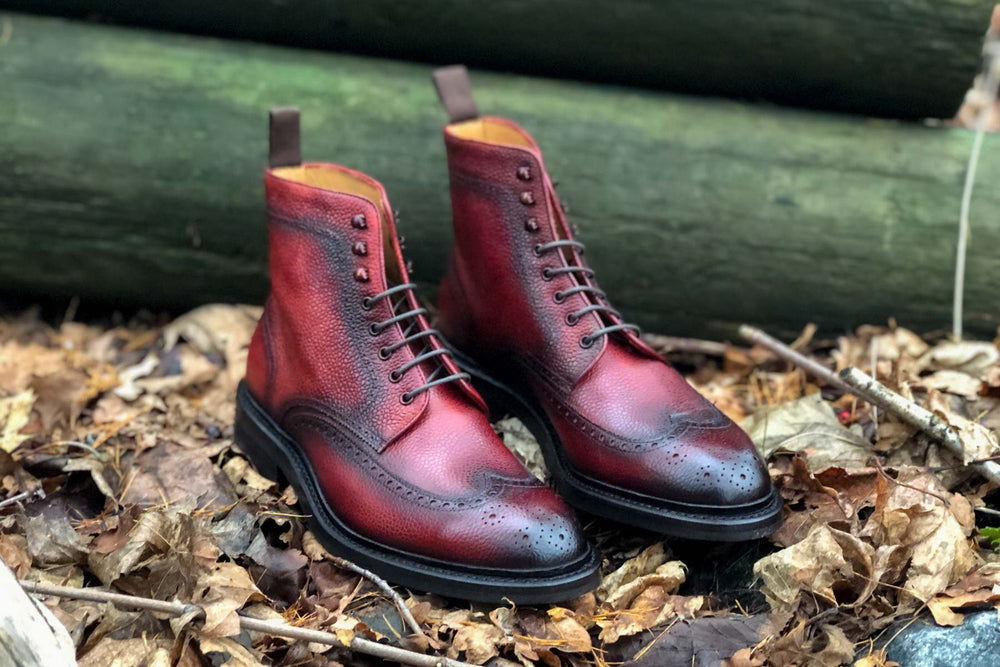 Carlos Santos 8922 Wingtip Boot in Alentejo Patina For The Noble Shoe