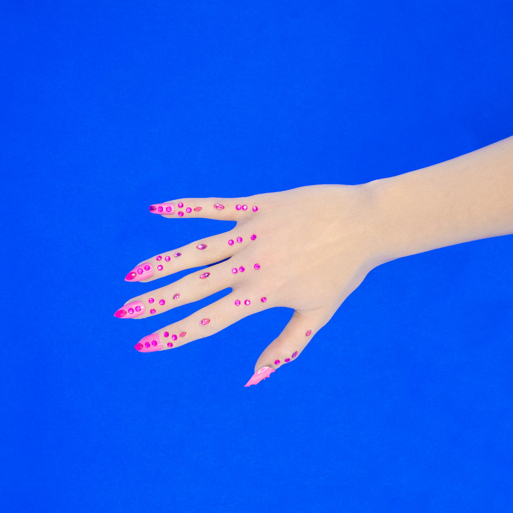Drag Nail Gloves - Cotton Candy