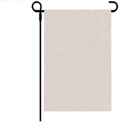 Faux Burlap Double Sided Garden Flag For Sublimation- Will Be In Stock March 27