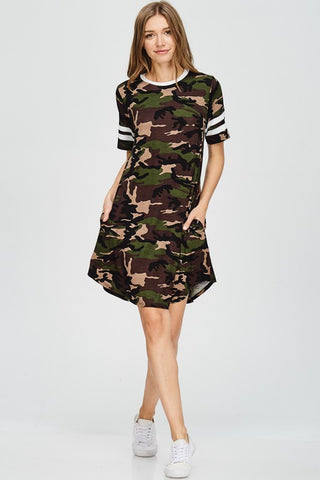 Ready For War Camo T-shirt Dress
