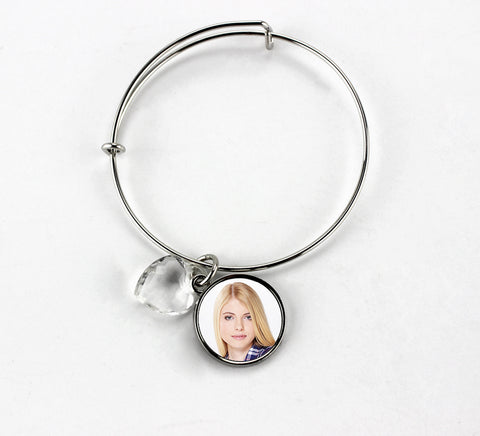 Sublimation Round Charm Bangle