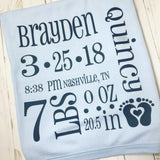Baby Stats/Announcement Template SVG