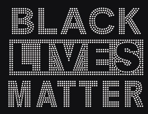 Black Lives Matter Rhinestone Transfer