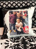 Personalized Photo Mermaid Sequin Pillow
