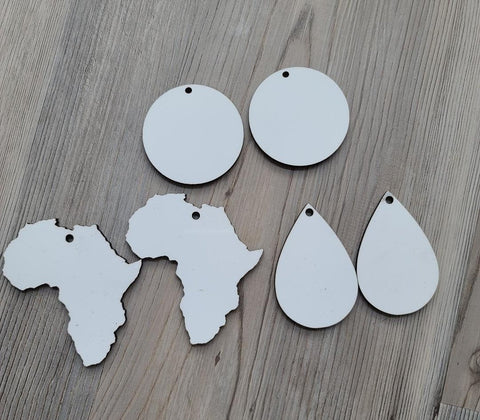 Double Sided MDF Sublimation Blank Earrings