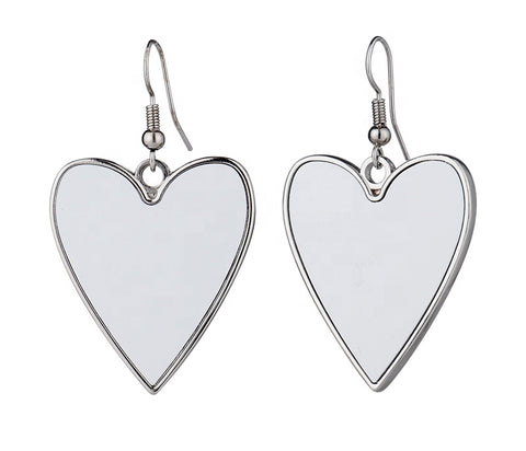 Heart Earrings For Sublimation