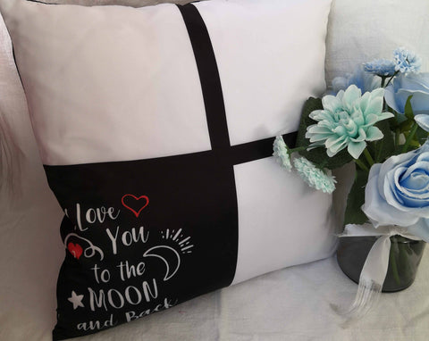 I Love You To The Moon & Back 4 Panel Pillow