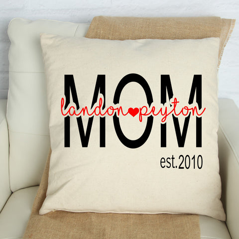 Personalized Pillow for Mom