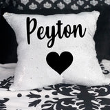 Name Sequin Pillow