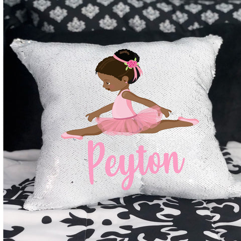 Ballerina Sequin Pillow