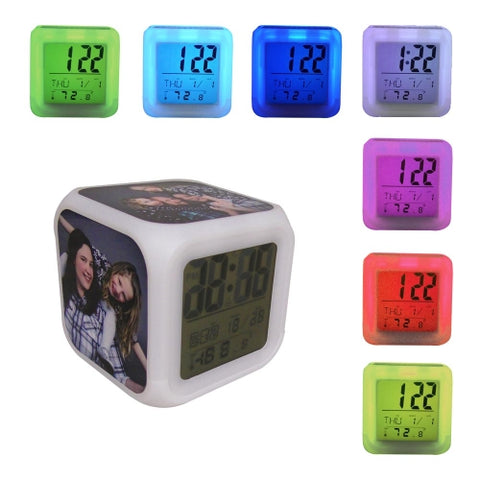 Sublimation Color Changing LED Alarm Clock