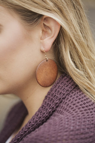 Wooden Blank Earrings