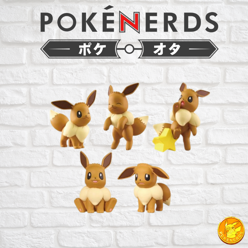 Pokemon Gashapon - Sun & Moon Eevee Ippai Full Collection