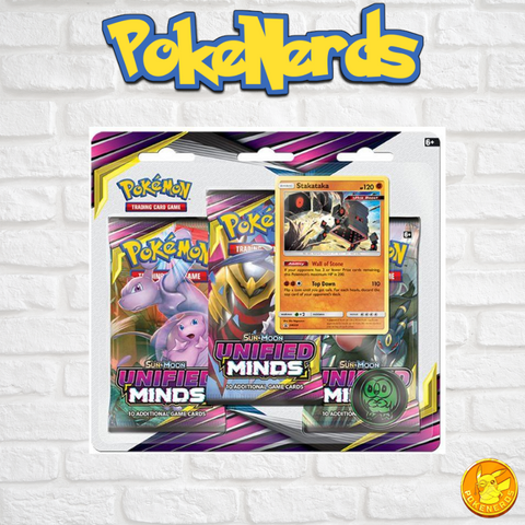 Pokémon TCG: Sun & Moon Unified Minds 3 Booster Packs Blister