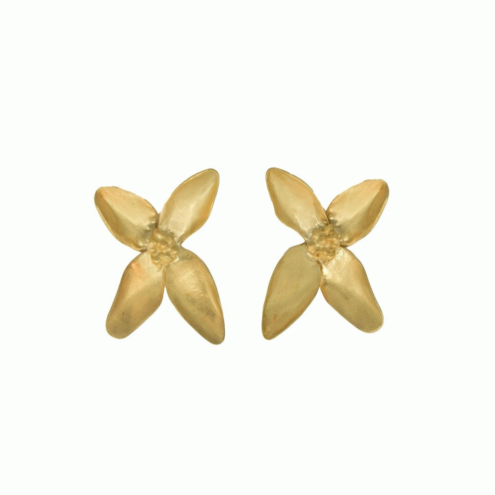 Blossom earrings gold