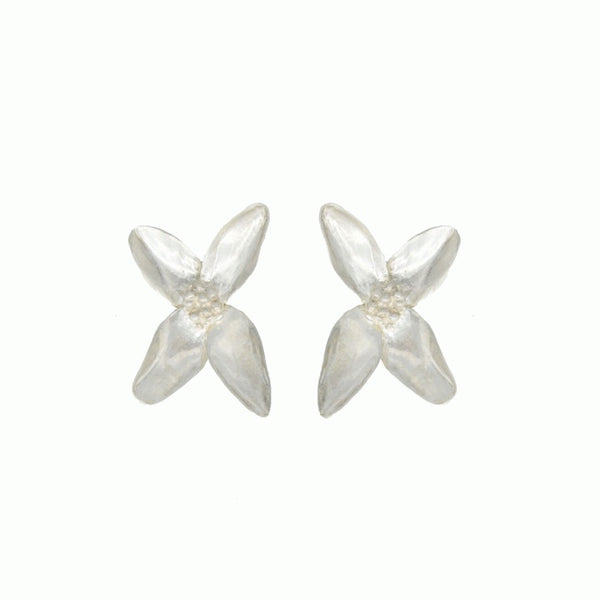 Blossom earrings silver