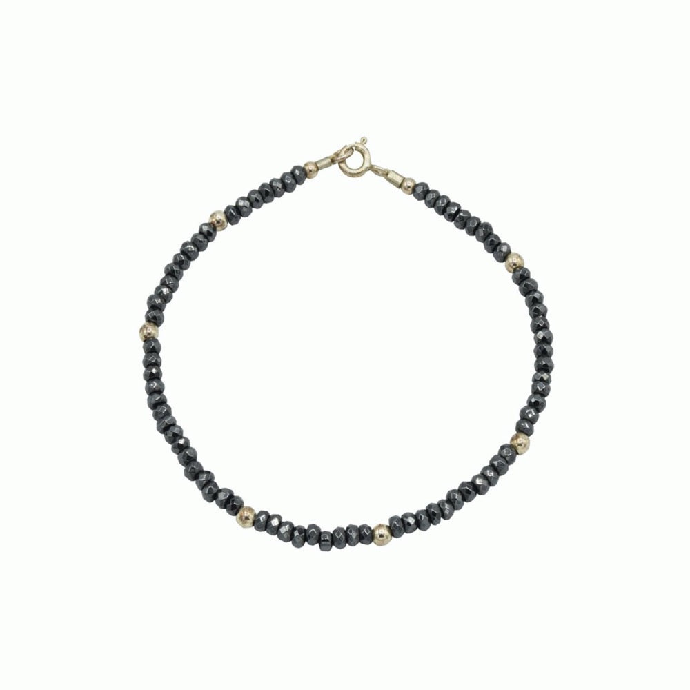 Silver and spinel bracelet