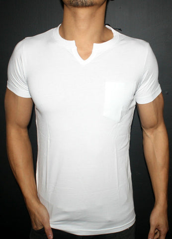 Plain White Men's Cut-away T-Shirt