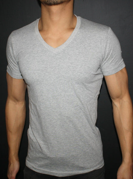Men's Plain Stone Harbor (Grey) Regular V-Neck T-Shirt